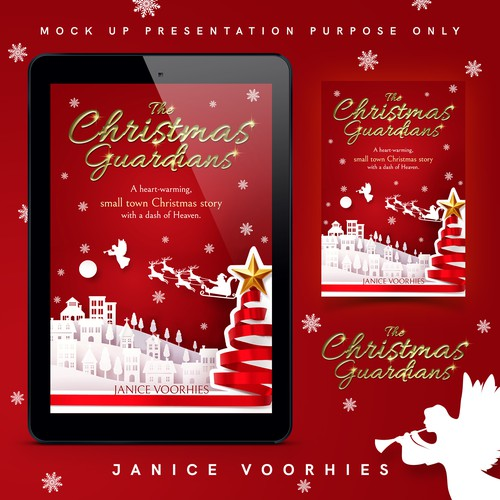 Christmas book cover with the title 'The Christmas Guardians'