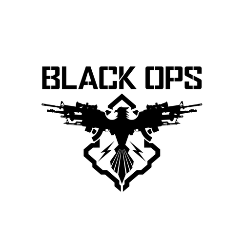 Army design with the title 'Logo design for BLACK OPS'