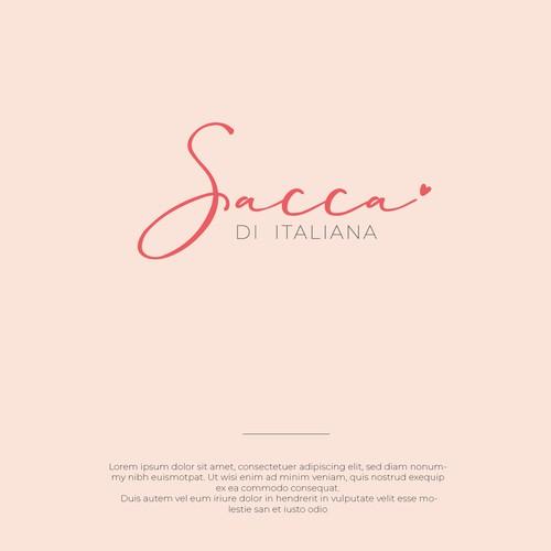 Peach logo with the title 'Sacca Di Italia'