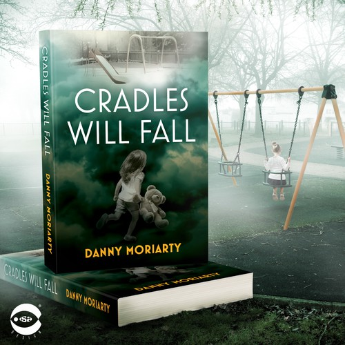 "Crime book cover with the title 'Book cover for ""Cradles Will Fall"" by Danny Moriarty'"