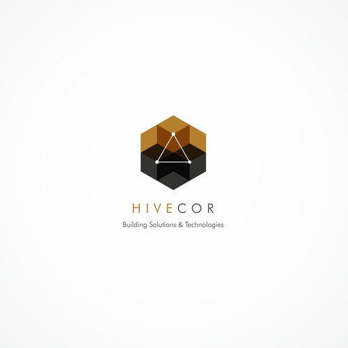Hive brand with the title 'Sacred geometry logo for building solutions company'