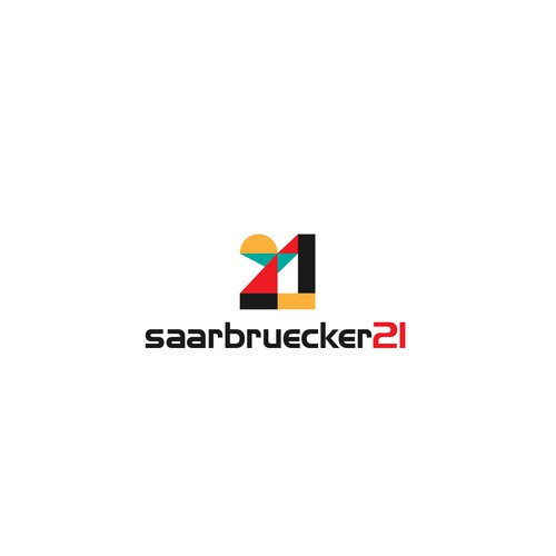 Angel wing design with the title 'Logo design concept for Saarbruecker21'