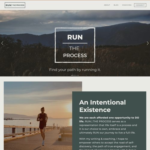HTML website with the title 'Clean Running Design For Pro Athlete'
