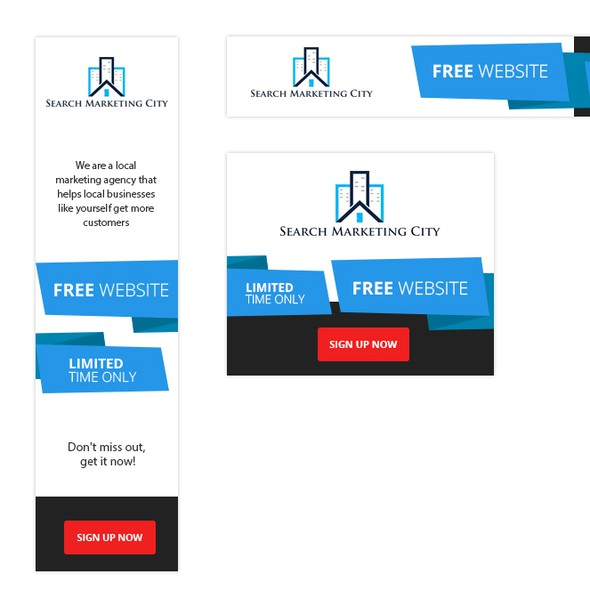 Ribbon design with the title 'Marketing Banner Ads'