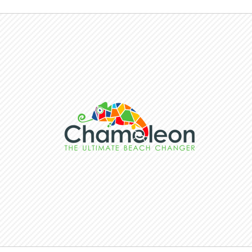 Glass logo with the title 'logo for Chameleon'