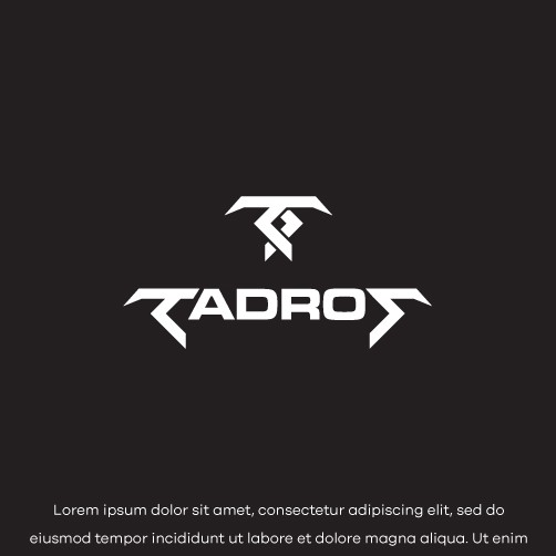 Entertainment design with the title 'TADROS'