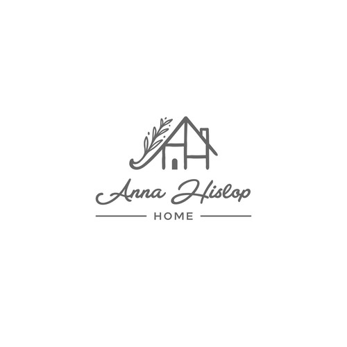 Household design with the title 'Logo concept for Anna Hislop Home'