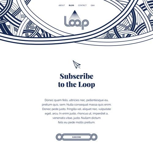 Blog website with the title 'Blog website design for Loop'