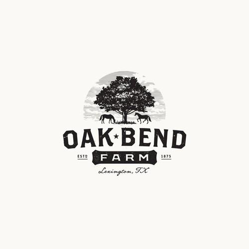 Farm brand with the title 'Oak Bend Farm'