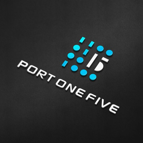 Blue and black design with the title 'PORT ONE FIVE'