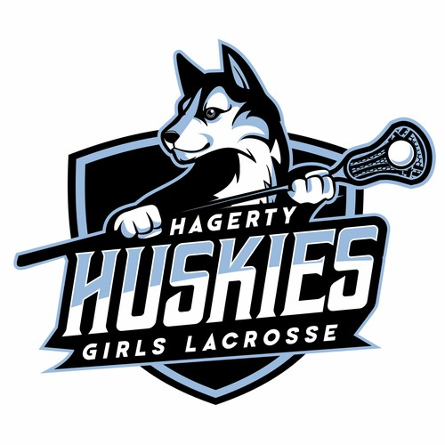Lacrosse design with the title 'Hagerty Girls Lacrosse'