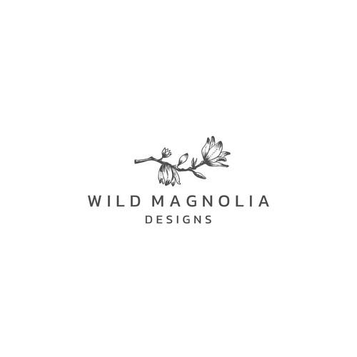 Magnolia design with the title 'Wild Magnolia Design'