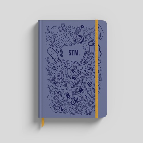 Notebook design with the title 'Notebook Cover'