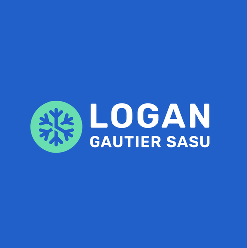 Winter design with the title 'Logan Gautier'