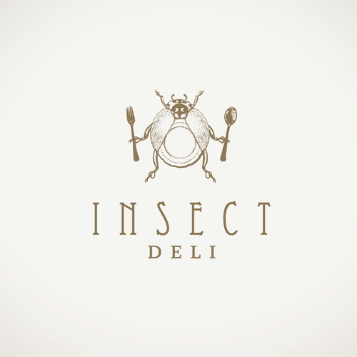 Funny design with the title 'Logo for edible insects e-commerce Insect Deli'