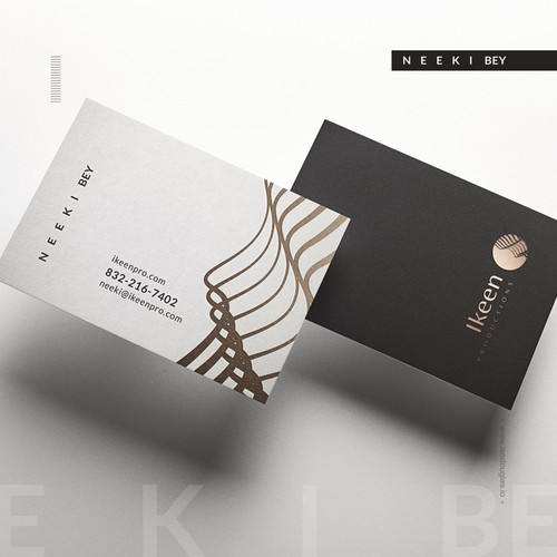 Contemporary design with the title 'Clean, minimalist business cards for event production company'