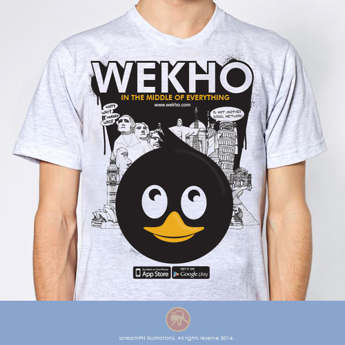 Landmark design with the title 'Wekho, in the middle of everywhere!!'