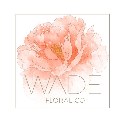 Peach design with the title 'Logodesign for a Florist'