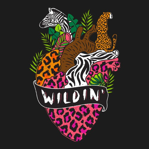 Vintage t-shirt with the title 'Wildlife '