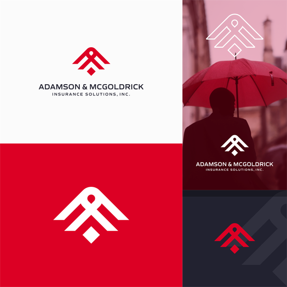 Insurance brand with the title 'letter A + M + people '