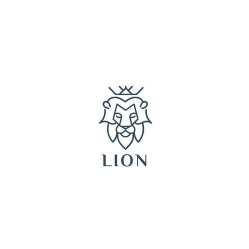 Lion head design with the title 'Lion'