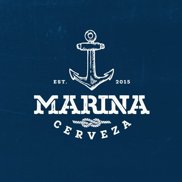 Marine logo with the title 'Vintage logo for mexican craft brewery'
