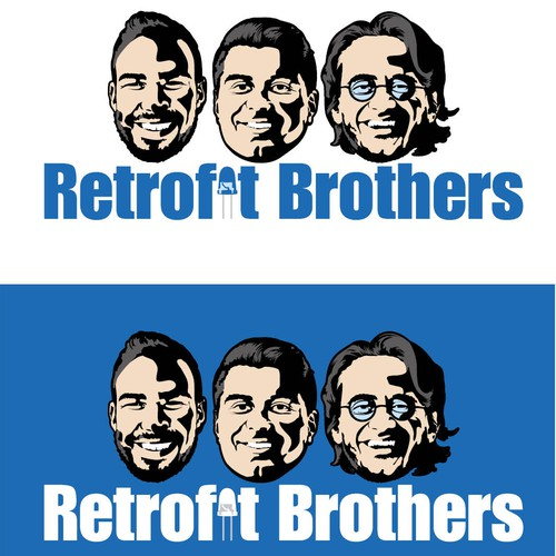 Brotherhood logo with the title 'LED Retrofit Brothers Logo Designs'