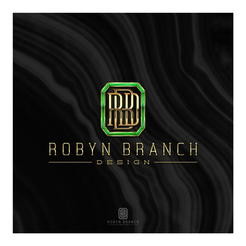Emerald logo with the title 'Robyn Branch Design'