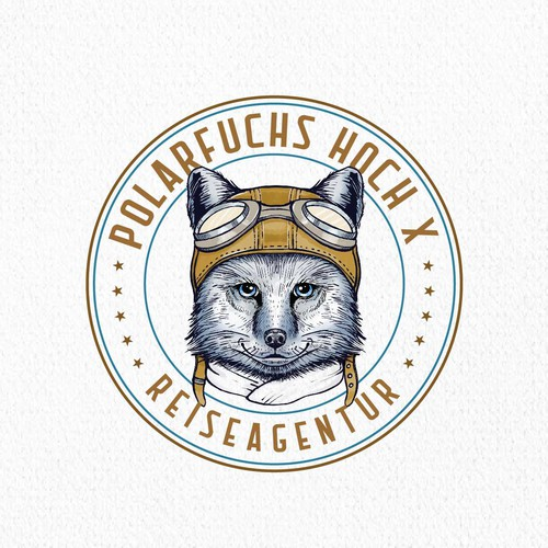 Engraved design with the title 'Polarfuchs Hoch X'