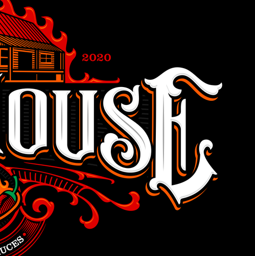 Heritage logo with the title 'chili house logo'