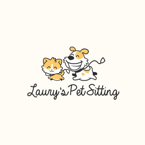 Playful logo with the title 'Laury's Pet Sitting'