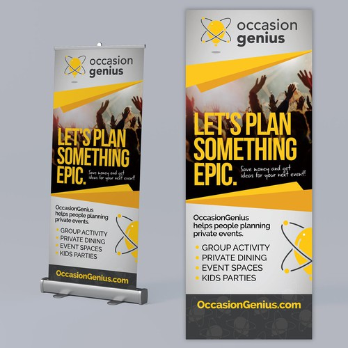 Event planning design with the title 'Rollup Banner'