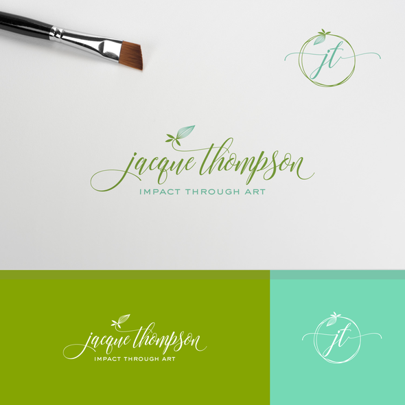 Aqua brand with the title 'Logo for Jacque Thompson'