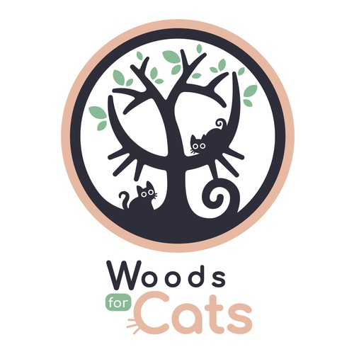 Woods design with the title 'Woods for Cats'