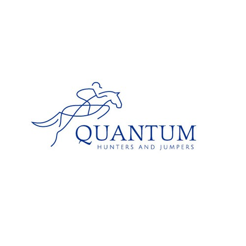 Equestrian design with the title 'Quantum Hunters and Jumpers logo design'