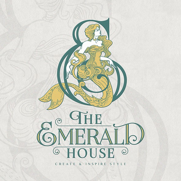 Mermaid logo with the title 'The Emerald House'