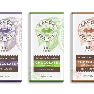 Logo and packages for chocolate company