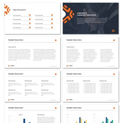 Clean Branded Powerpoint Template Design