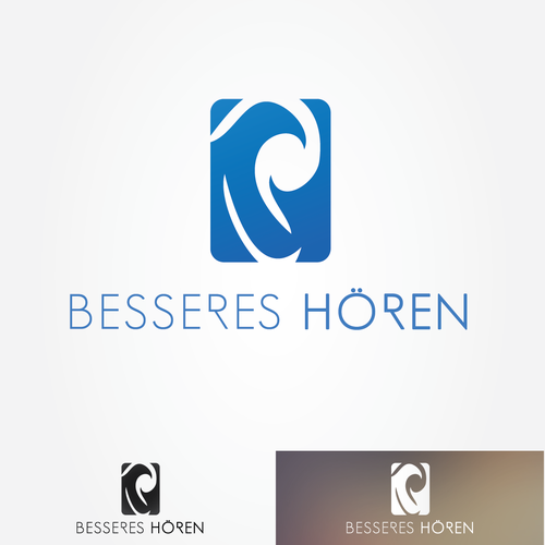 Relief logo with the title 'Logo for Besseren Hören'