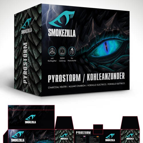Charcoal design with the title 'Package and Logo design'