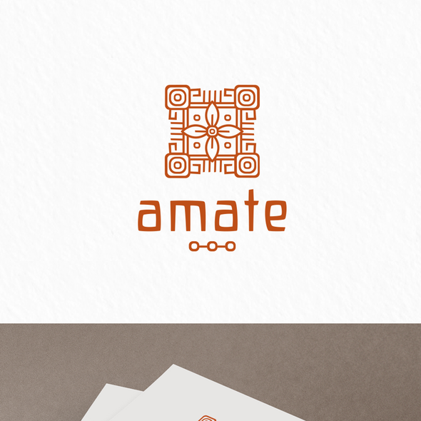Pottery design with the title 'Amate'