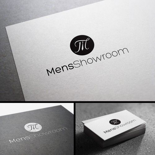 Men's fashion logo with the title 'Logo Design for MensShowroom'