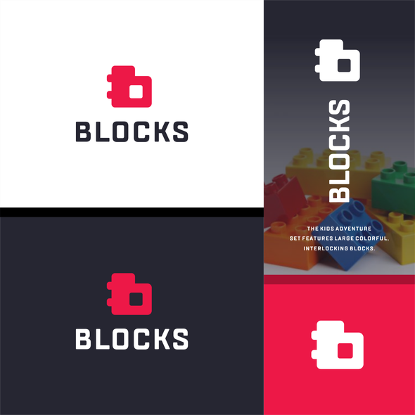 Block design with the title 'lego block with initial B'