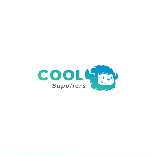 Frozen food logo with the title 'Cool suppliers'