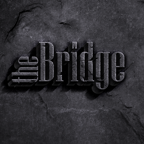 Rust design with the title 'Brand logo concept for The Bridge'