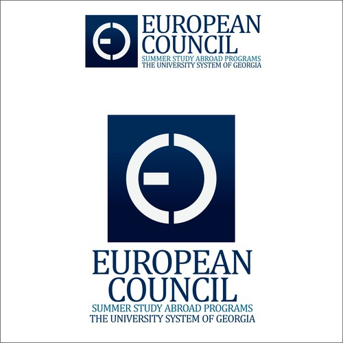 Georgia design with the title 'European Council'