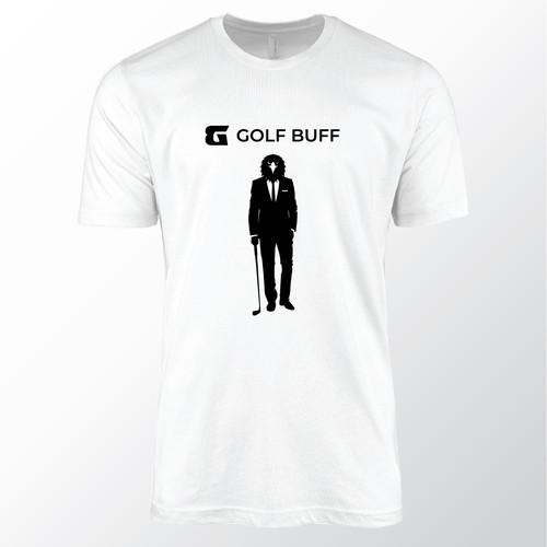 Golf t-shirt with the title 'Bird-man T-shirt design'