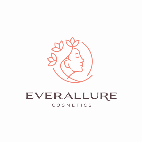 Woman logo with the title 'EverAllure Beauty Cosmetics '