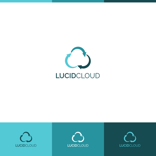 Data center design with the title 'Logo design concept for Lucid Cloud'