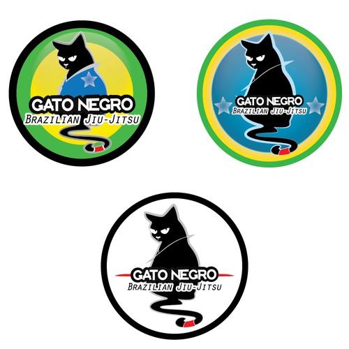 Jiu-jitsu logo with the title 'Brazilian Jiu-Jitsu team logo Gato Negro!'